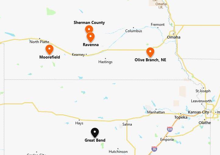 Rev. William Pebler locations