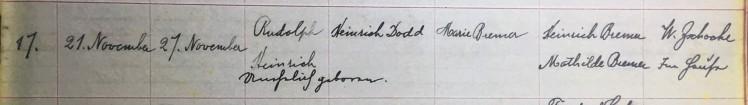 Rudolph Schade baptism record Concordia Frohna MO