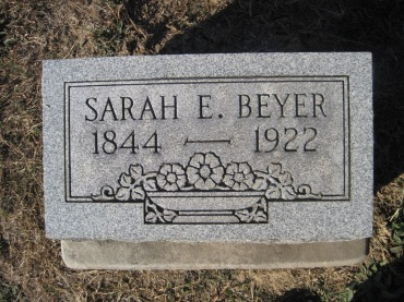 Sarah Beyer gravestone - Trinity Altenburg MO