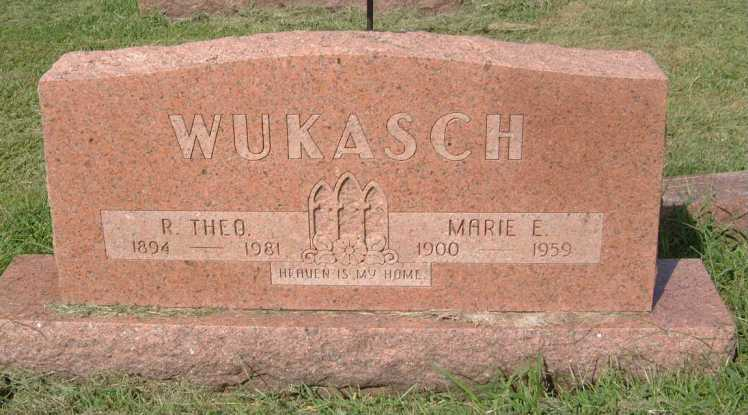 Theobald and Marie Wukasch gravestone St. John's Indianapolis IN