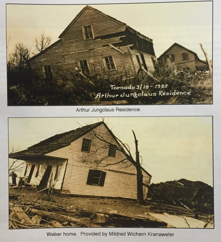 Weber and Jungclaus homes 1925 tornado damage