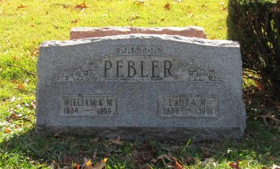 William and Laura Pebler gravestone Concordia St. Louis MO