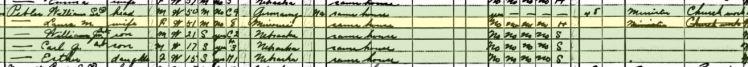 William Pebler 1940 census Olive Branch NE