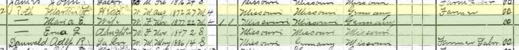 Adolph Thauwald 1900 census Brazeau Township MO