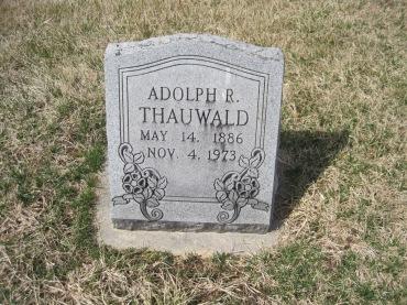 Adolph Thauwald gravestone Immanuel New Wells MO
