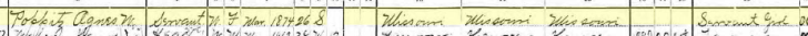 Agnes Poppitz 1900 census 2 Brazeau Township MO