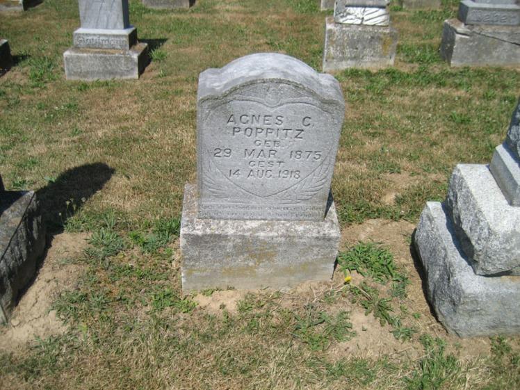 Agnes Poppitz gravestone Trinity Altenburg MO
