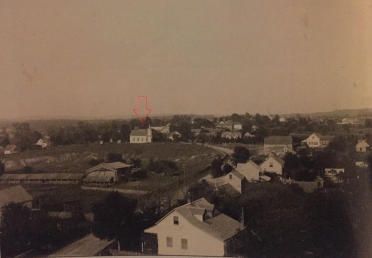 Altenburg aerial photo from Immanuel steeple c.1908 public school