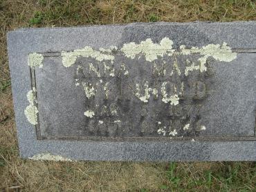Anna Marie Weinhold gravestone Concordia Frohna MO
