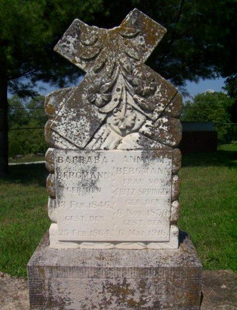 Anna Springer gravestone Peace Friedenberg MO