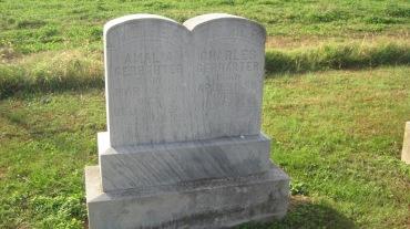 Charles and Amalia Gerharter gravestone Trinity Shawneetown MO
