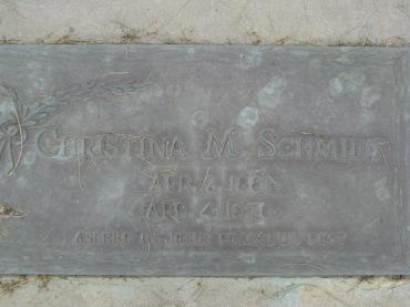 Christina Schmidt gravestone - Concordia Frohna MO