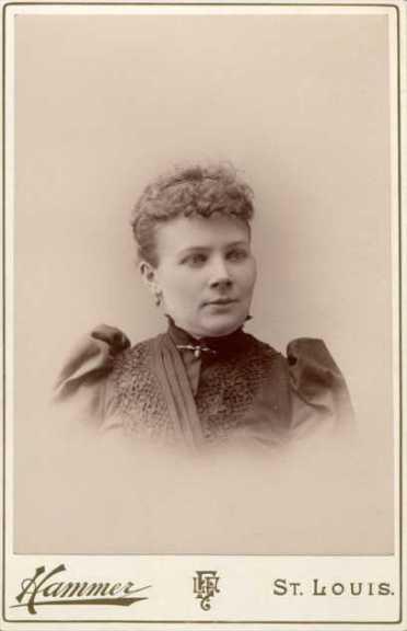 Clara Tirmenstein about 1895