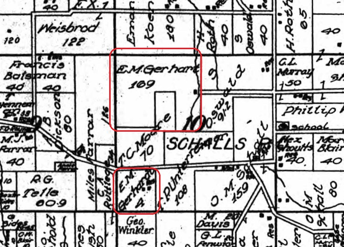 E.M. Gerhardt land map 1915