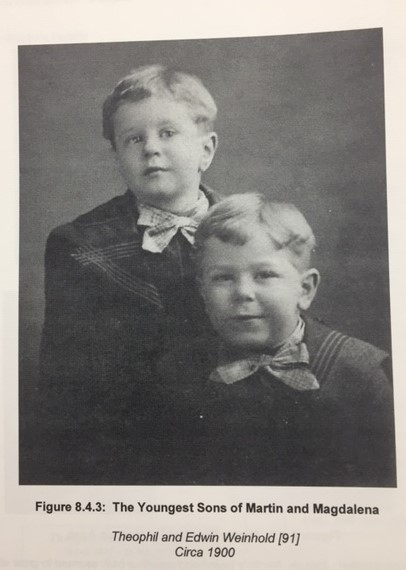Edwin and Theophil Weinhold young
