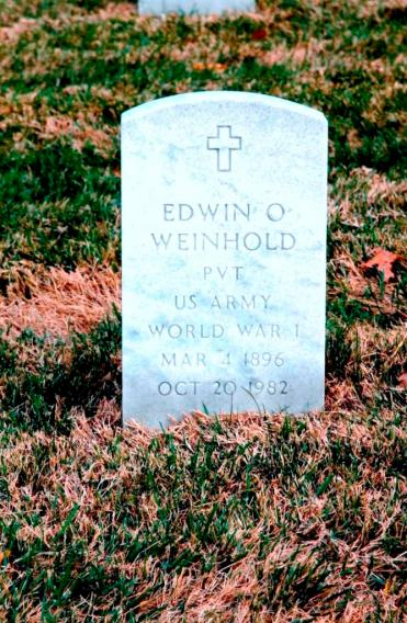 Edwin Weinhold gravestone Jefferson Barracks St. Louis MO