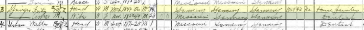 Friedrich Springer 1900 census Perryville MO