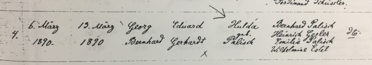 George Gerhardt baptism record Trinity Altenburg MO