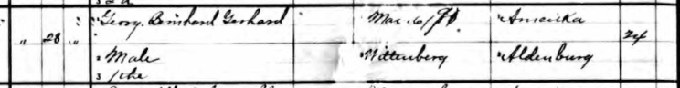 George Gerhardt birth record Perry County MO