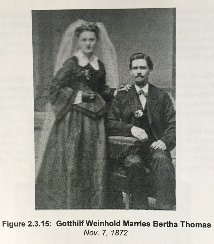 Gotthilf and Bertha Weinhold wedding