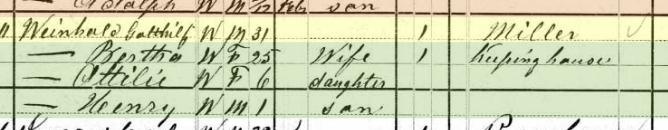 Gotthilf Weinhold 1880 census Brazeau Township MO
