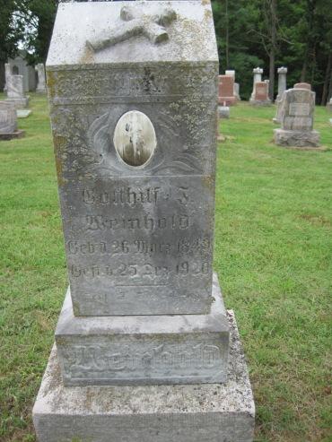 Gotthilf Weinhold gravestone Concordia Frohna MO