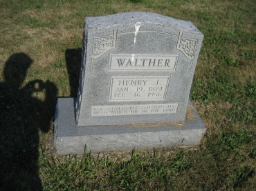 Henry Walther gravestone Trinity Altenburg MO