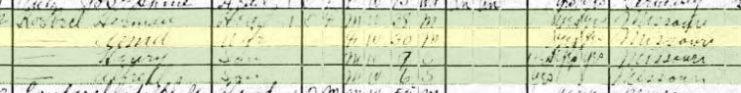Herman Koeberl 1920 census Shawnee Township MO