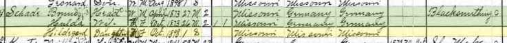 Hildegard Schade 1900 census Altenburg MO