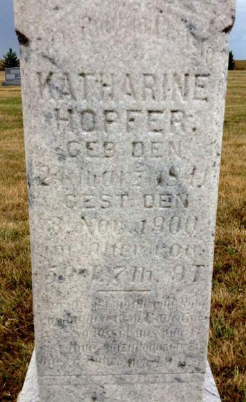 Katharine Hopfer gravestone Zion Linn KS