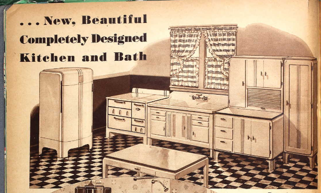 Kitchen 1935 Sears catalog