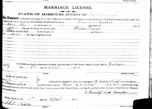 Koeberl Leimer marriage license