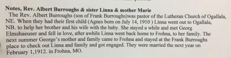 Linna Burroughs George Elmshauser story
