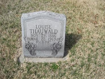 Louisa Thauwald gravestone Immanuel New Wells MO