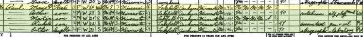Marie Paul 1940 census Milwaukee WI