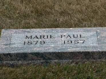 Marie Paul gravestone Immanuel Lakefield MN
