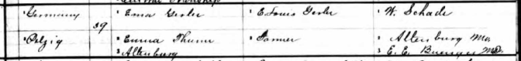 Pauline Gerler birth record 2 Perry County MO