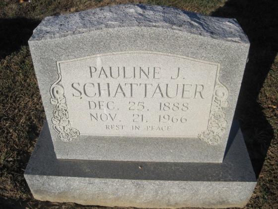 Pauline Schattauer gravestone Immanuel Altenburg MO
