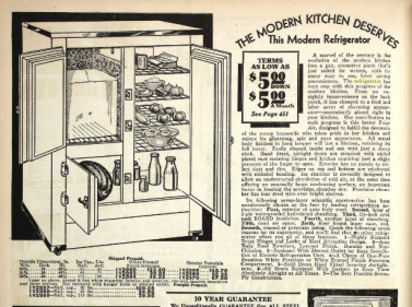Refrigerators Ice boxes 2 1930 Sears catalog