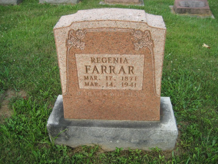 Regenia Farrar gravestone Salem Farrar MO