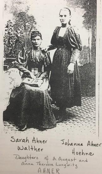 Sarah Ahner Walther with sister Johanna Hoehn