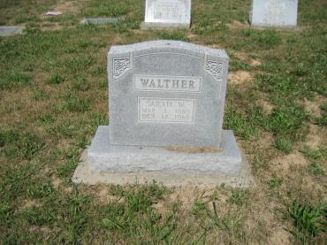 Sarah Walther gravestone Trinity Altenburg MO