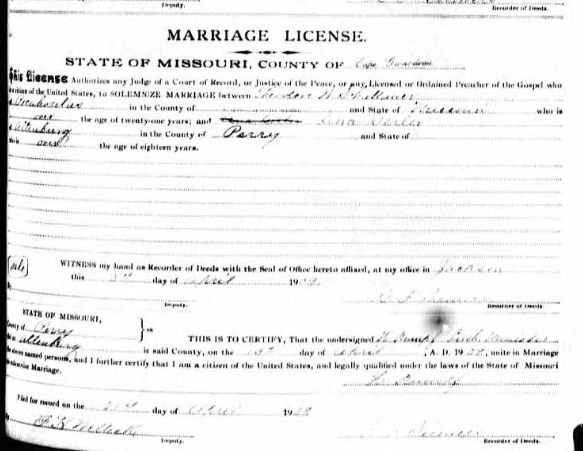 Schattauer Gerler marriage license