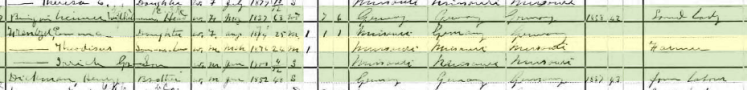 Theodosius Frentzel 1900 census Union Township MO
