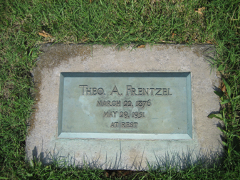 Theodosius Frentzel gravestone Grace Uniontown MO