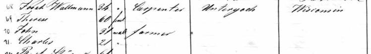 Wallmann names Therese passenger list Baltimore 1857
