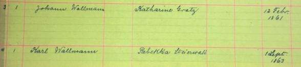Wallmann Steirwalt marriage record Immanuel New Wells MO