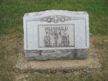 William Weinhold gravestone Concordia Frohna MO