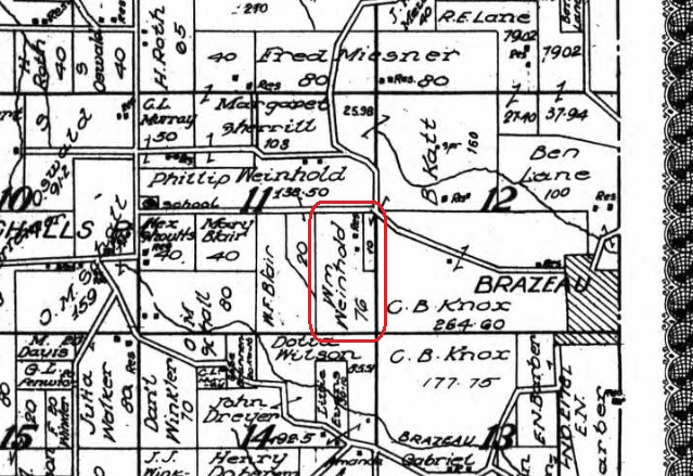 William Weinhold land map 1915