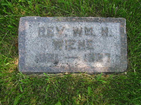 William Wiehe gravestone Immanuel Wecota SD